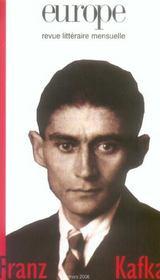 Revue Europe ; Franz Kafka - Intérieur - Format classique