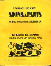 Siona A Paris. 41 Bois Originaux De Renefer. Le Livre De Demain N° 71. - Couverture - Format classique