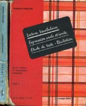 Lecture Grammaire Conjugaison Orthographe - De La Lecture A L'Expression Francaise - Livre I Et Ii - Cours Elementaire Et Moyen 1 Et 2 - Couverture - Format classique