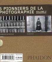 Coffret 55 : 5 pionniers de la photographie t.2 - 4ème de couverture - Format classique