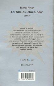 La Fille Au Chien Noir - 4ème de couverture - Format classique