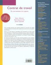 Contrat de travail - 4ème de couverture - Format classique
