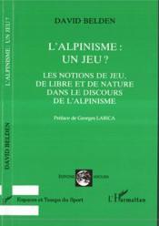 L'Alpinisme Un Jeu - Couverture - Format classique