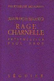 Rage Charnelle - Couverture - Format classique