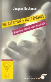 Creativite a toute epreuve (une) - Intérieur - Format classique