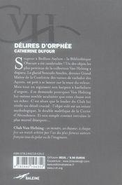 Délires d'Orphée - 4ème de couverture - Format classique