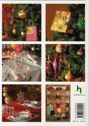 Noël en couleurs. pop, nordique, pastel ou oriental : 5 thèmes pour décorer la maison - 4ème de couverture - Format classique