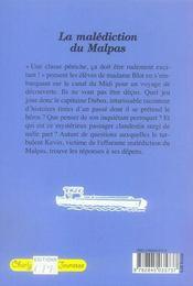 Charly Jeunesse - La malédiction du Malpas - 4ème de couverture - Format classique