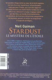 Stardust - 4ème de couverture - Format classique