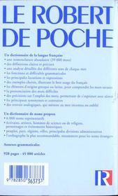 Robert poche - 4ème de couverture - Format classique