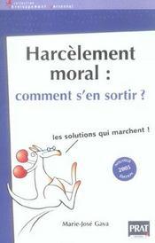 Harcelement Moral Comment S En Sortir 2005 - Intérieur - Format classique
