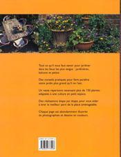 Jardinier sans jardin - 4ème de couverture - Format classique