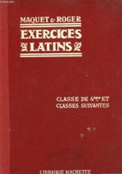 Exercices Sur La Grammaire Latine - Complete - Classe De 4° Et Classes Suivantes - Couverture - Format classique