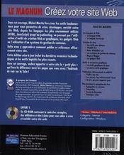 Créer votre site web (édition 2007) - 4ème de couverture - Format classique