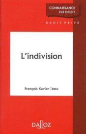 L'indivision - Couverture - Format classique