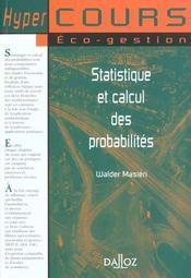 Statistique et calcul des probabilites - 1ere ed. - Intérieur - Format classique