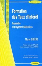 Formation Des Taux D'Interet - Couverture - Format classique
