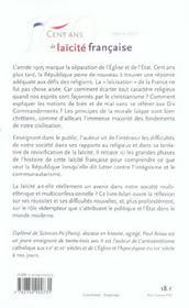 100 ans de laicite francaise - 1905-2005 - 4ème de couverture - Format classique