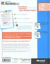 Microsoft Access Version 2002 Au Quotidien (+Cd-Rom) - Livre+Cd-Rom - 4ème de couverture - Format classique