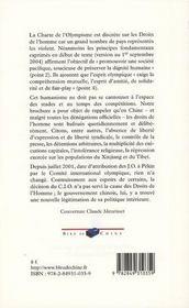 L'Envers Des Medailles ; J.O. De Pekin 2008 - 4ème de couverture - Format classique