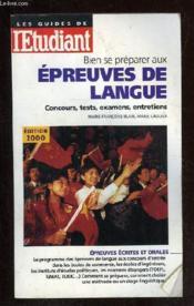 Bien Preparer Les Epreuves De Langue - Couverture - Format classique