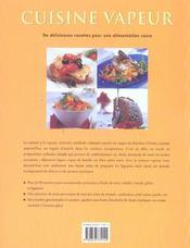 La cuisine a vapeur - 4ème de couverture - Format classique