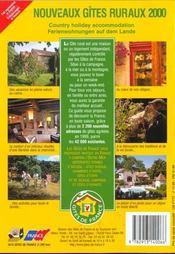 Nouveaux gîtes ruraux 2000 - 4ème de couverture - Format classique