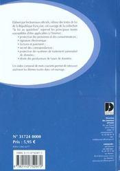 L'internet ; les principaux textes de loi - 4ème de couverture - Format classique