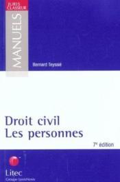 Droit civil ; les personnes ; 7e edition - Couverture - Format classique