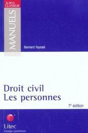 Droit civil ; les personnes ; 7e edition - Intérieur - Format classique