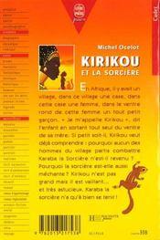 Kirikou et la sorciere - 4ème de couverture - Format classique