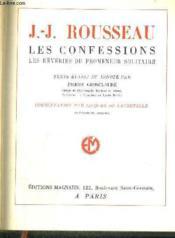 Les Confessions - Les Reveries Du Promeneur Solitaire - Couverture - Format classique