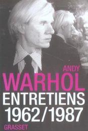Andy Warhol, Entretiens - Intérieur - Format classique