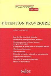 Détention provisoire (1e édition) - Couverture - Format classique