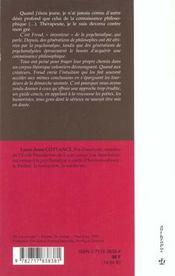 Petit vademecum de la psychanalyse - 4ème de couverture - Format classique