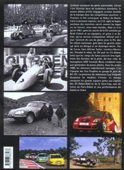 Citroën en compétition - 4ème de couverture - Format classique