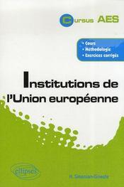 Institutions de l'union européenne - Intérieur - Format classique