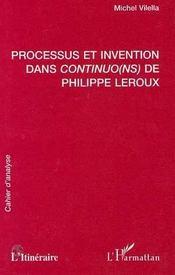 Processus et invention dans Continuo(ns) de Philippe Leroux - Intérieur - Format classique