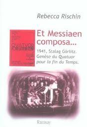 Et messiaen composa - Intérieur - Format classique