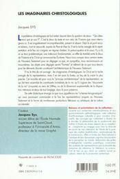 Les imaginaires christologiques - 4ème de couverture - Format classique