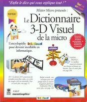Dictionnaire 3d Visuel De La Micro - Intérieur - Format classique