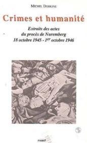 Crimes Et Humanite - Couverture - Format classique