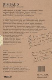 Rimbaud ; l'oeuvre integrale manuscrite - 4ème de couverture - Format classique