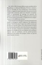 Le pouvoir ne se partage pas ; conversations avec François Mitterrand - 4ème de couverture - Format classique