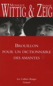 Brouillon pour un dictionnaire des amantes - Couverture - Format classique