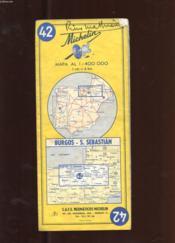 Carte Michelin N°42. Burgos. S. Sebastian - Couverture - Format classique
