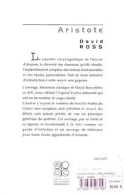 Aristote - 4ème de couverture - Format classique