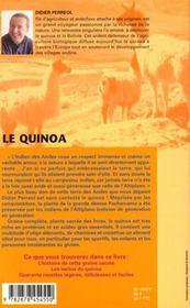 Le Quinoa - 4ème de couverture - Format classique