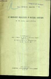 Le Ordinanze Prefettizie In Materia Sanitaria E La Loro Sanzione (Plaquette). - Couverture - Format classique