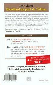 Le Brouillard Au Pont De Tolbiac - 4ème de couverture - Format classique